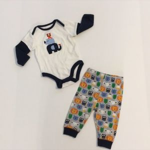 Baby Boy Animal Outfit Size 3-6M